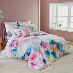 Bluebellgray Sanna Oversized Pastel Floral 3-Piece Cotton Duvet Cover Set, King
