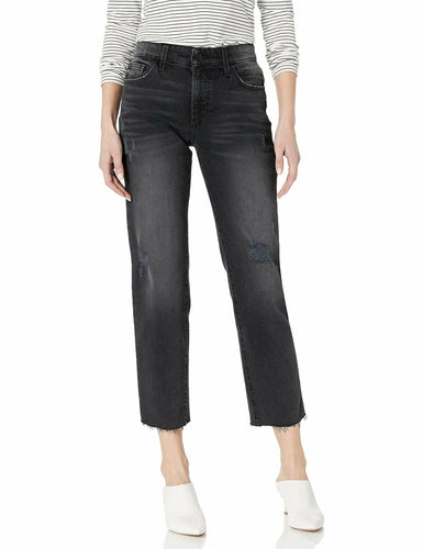 Joe's Women's Scout Distressed Slim-Straight Boyfriend Crop Jeans, Anise - 27