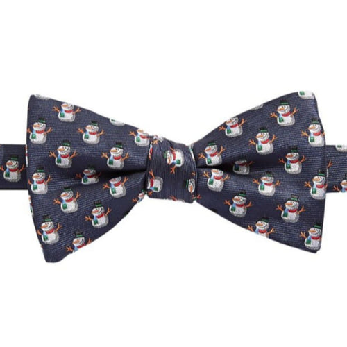 Bow Tie Tuesdays Mens Snowman Christmas Jacquard Silk Pre-Ted Bow Tie - Luxe Fashion Finds