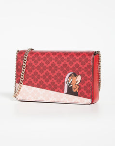 Kate Spade Womens Tom & Jerry Chain Wallet Crossbody Clutch Collection Small Bag - Luxe Fashion Finds