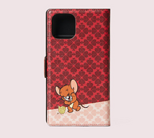 Load image into Gallery viewer, Kate Spade Tom & Jerry iPhone 11 PRO Magnetic Wrap Folio Protective Red Case