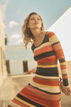 Load image into Gallery viewer, Anthropologie Women's Tracy Reese Striped Column Bodycon Rib Stretch Dress - Luxe Fashion Finds
