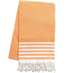 Fouta mit Wabenmuster - orange