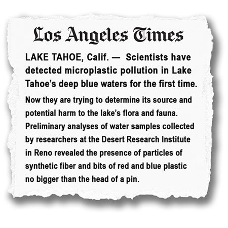 Microplastics are found in Lake Tahoe's waters for first time ever