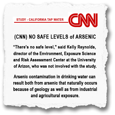 "CNN Reports - ""No Safe Level of Arsenic"""