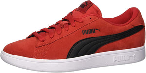 Puma Unisex-Kids Smash SD Jr Sneaker, Ribbon Red Black, 5.5 M US Big Kid