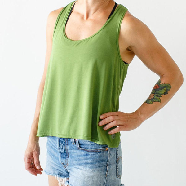 The Bamboo Convertible Tank (Olive)
