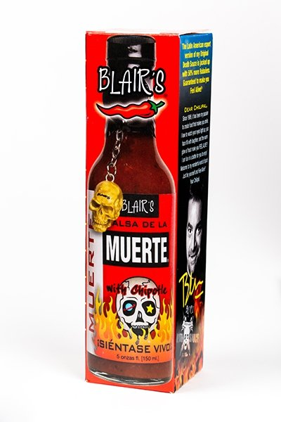Blair's Salsa De La Muerte Hot Sauce brought to you by one of the World's most respected hot sauce makers, Blair's Death Sauce.