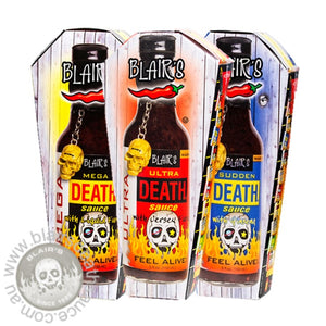 Blair's Death Row - Ultra & Mega & Sudden Death Sauces - brought to you by one of the World's most respected hot sauce makers, Blair's Death Sauce. Available exclusively in Australia at www.blairsdeathsauce.com.au