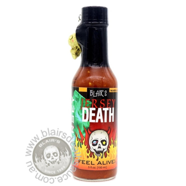 Blair's Jersey Death Sauce brought to you by one of the World's most respected hot sauce makers, Blair's Death Sauce. Available to buy in Australia at www.blairsdeathsauce.com.au