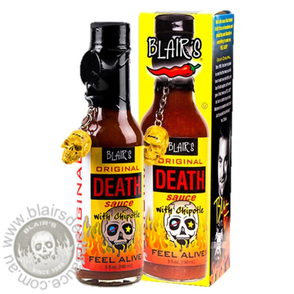 Blair's Original Death Sauce brought to you by one of the World's most respected hot sauce makers, Blair's Death Sauce. Buy in Australia at www.blairsdeathsauce.com.au