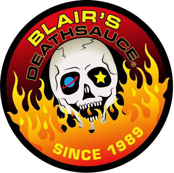 Blair's Death Sauce Logo  brought to you by one of the World's most respected hot sauce makers, Blair's Death Sauce.