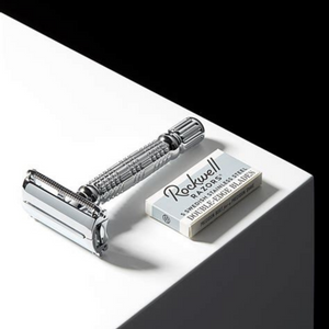 Safety Razor - Rockwell R1 in White Chrome
