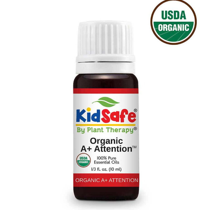 A+ Attention KidSafe Certified Organic  100% Pure Essential Oil 10 mL by Plant Therapy