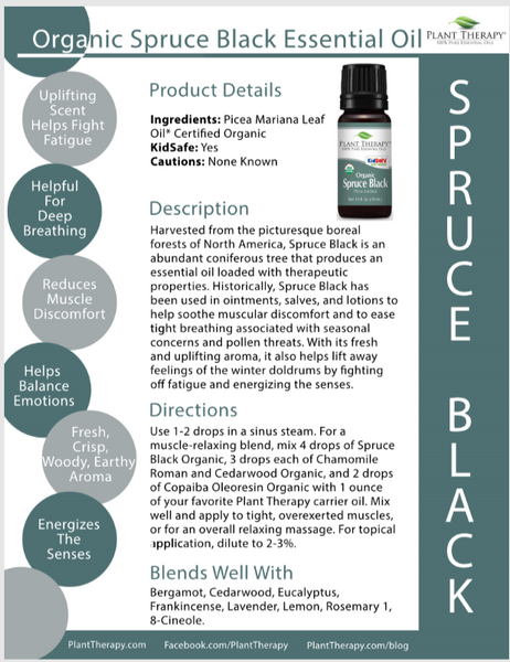 Black Spruce 100% Pure Certified Organic Essential Oil 10ml by Plant Therapy