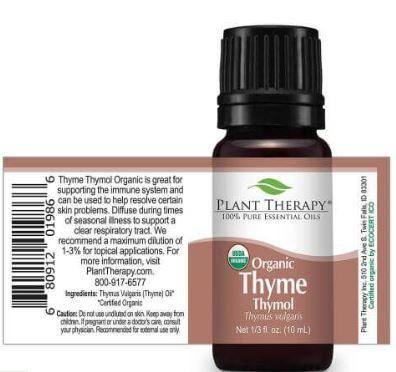Thyme Thymol Organic Essential Oil 5ml by Plant Therapy