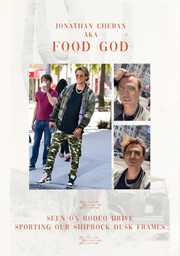 "Jonathan Cheban ""FOODGOD"" in Tejesta Shiprock Yellow Gold Dusk"