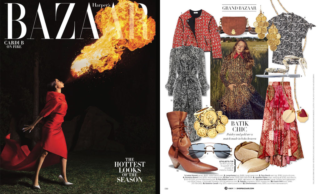 Ship Rock featured in Harper's Bazaar.