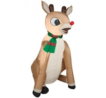 Gemmy Airblown Rudolph Red Nose with Scarf Inflatable garrison-city-gadgets.myshopify.com [option1] [option2] [option3]