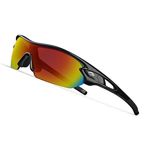 Polarized Sports Sunglasses with 3 Interchangeable Lenses for Men Women Cycling Running Driving Fishing - Garrison City Gadgets