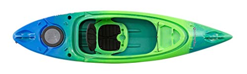 Perception Kayaks Flash 9.5 | Sit Inside Kayak for Fishing and Fun | Two Rod Holders | Multi-Function Dash | 9' 6