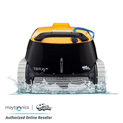 Dolphin Triton PS Automatic Robotic Pool Cleaner with Extra-Large Filter Basket