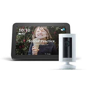 Echo Show 8 (Charcoal) with Ring Indoor Camera