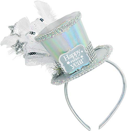 Amscan New Year's Disco Ball Drop Deluxe Headband, Party Accessory