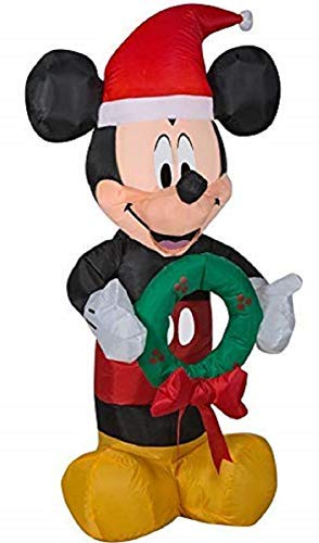 Gemmy Inflatable Mickey Mouse 3.5Ft. Tall with Wreath Outdoor Holiday Decoration garrison-city-gadgets.myshopify.com [option1] [option2] [option3]