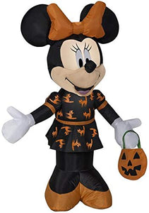 Gemmy 3.5' Airblown Minnie in Black and Orange Dress Halloween Inflatable garrison-city-gadgets.myshopify.com [option1] [option2] [option3]