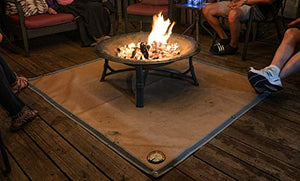 Ember Mat - Protect The Area Underneath Your BBQ Grill or Fire Pit from Grease and Popping Embers garrison-city-gadgets.myshopify.com [option1] [option2] [option3]