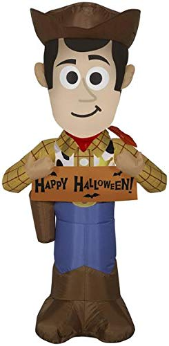 Gemmy 3.5' Airblown Woody w/Banner Disney Halloween Inflatable garrison-city-gadgets.myshopify.com [option1] [option2] [option3]