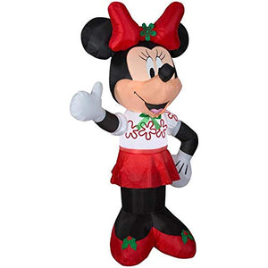 Gemmy Inflatable Minnie Mouse 6Ft. Tall with Red Bow Outdoor Holiday Decoration garrison-city-gadgets.myshopify.com [option1] [option2] [option3]