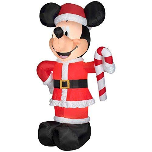 Gemmy Christmas Disney Inflatable Giant 10 1/2' LED Mickey Mouse Santa w/Candy Cane garrison-city-gadgets.myshopify.com [option1] [option2] [option3]