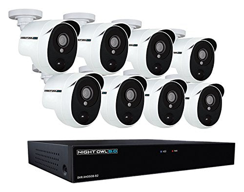 Night Owl XHD502-88P-B 8 Channel 5MP Extreme HD Video Security DVR & Wired Infrared Cameras with 2 TB HDD, White garrison-city-gadgets.myshopify.com [option1] [option2] [option3]