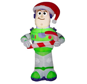 Gemmy 3.5 Foot Toy Story Buzz Lightyear Airblown Inflatable with Candy Cane garrison-city-gadgets.myshopify.com [option1] [option2] [option3]
