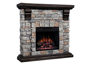 Classic Flame Pioneer Stone Electric Fireplace Mantel Package, Brushed Dark Pine - 18WM10400-I601 garrison-city-gadgets.myshopify.com [option1] [option2] [option3]