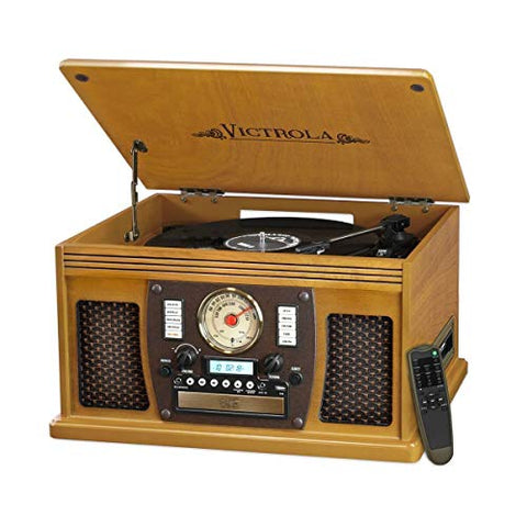 Victrola Navigator 8-in-1 Classic Bluetooth Record Player with USB Encoding and 3-speed Turntable: Amazon Launchpad - Garrison City Gadgets