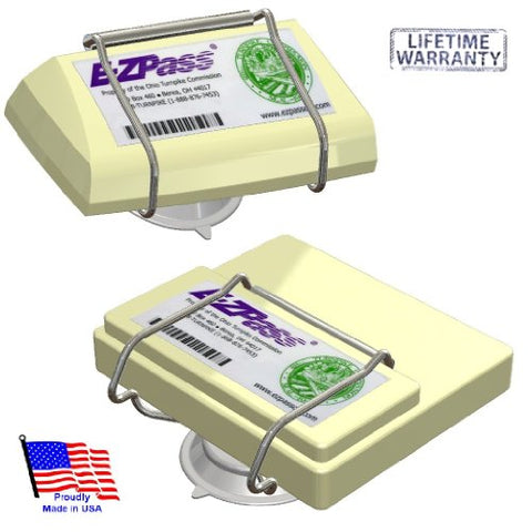 EZ Pass-Port -  Indestructible Holder fits Mini and OLD size EZ Pass (not the Flex or HOV switch models - Garrison City Gadgets