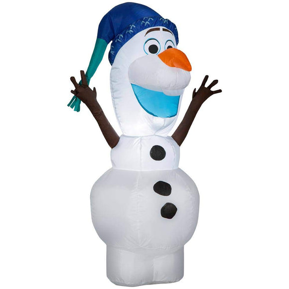 Gemmy Inflatable Olaf in Blue Christmas Hat Indoor/Outdoor Holiday Decoration - 3.5Ft. Tall garrison-city-gadgets.myshopify.com [option1] [option2] [option3]