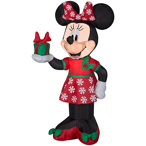 Gemmy 84233 Airblown Minnie with Present Christmas Inflatable 3.5 FT TALL garrison-city-gadgets.myshopify.com [option1] [option2] [option3]