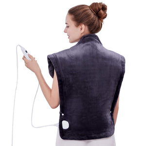 Utaxo Heating Pad Wrap, for Neck Shoulders Whole Back Pain Relief, Soothing Muscle