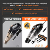 Portable Car Vacuum Cleaner High Power for Quick Car Cleaning, DC 12V Portable Auto Vacuum - Garrison City Gadgets
