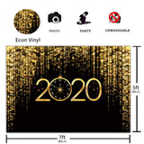 Funnytree 7x5ft Happy New Year 2020 Backdrop Pocket Watch Dial Countdown