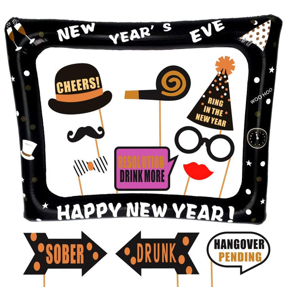 New Years Eve Inflatable Frame and Photo Booth Props