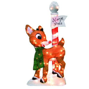 ProductWorks 32-Inch Pre-Lit Rudolph The Red-Nosed Reindeer Christmas Yard Art, 1, 70 Lights garrison-city-gadgets.myshopify.com [option1] [option2] [option3]