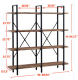 O&K FURNITURE Double Wide 4-Tier Open Bookcases Furniture garrison-city-gadgets.myshopify.com [option1] [option2] [option3]