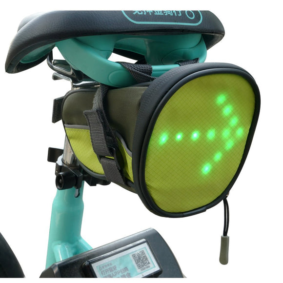 LED Cycling Saddle Bag/Bicycle Underseat Bag w/Reflective Turn Signal
