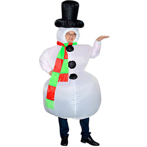 Wecloth Christmas Inflatable Snowman Cosplay Costume Party Fancy Dress Blow Up Body Suit Jumpsuit garrison-city-gadgets.myshopify.com [option1] [option2] [option3]