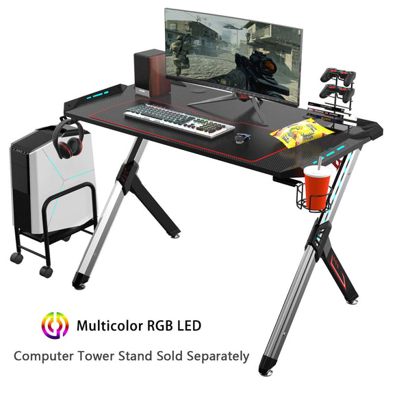 EUREKA ERGONOMIC Gaming Desk RGB Lighting